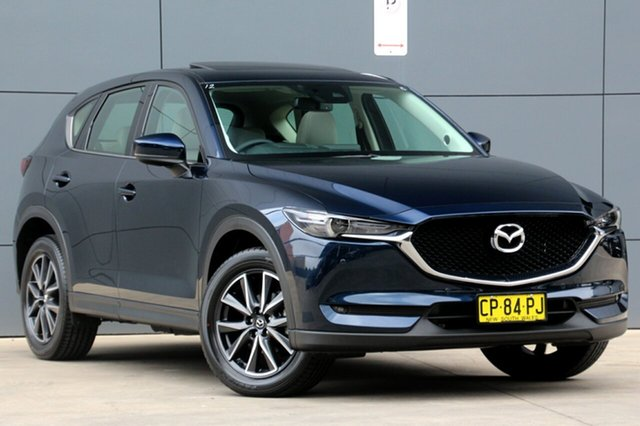 Used Mazda CX-5 KF4WLA GT SKYACTIV-Drive i-ACTIV AWD, 2017 Mazda CX-5 KF4WLA GT SKYACTIV-Drive i-ACTIV AWD Blue 6 Speed Sports Automatic Wagon
