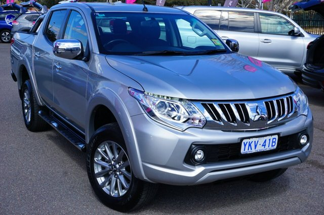 Used Mitsubishi Triton MQ MY16 GLS Double Cab, 2015 Mitsubishi Triton MQ MY16 GLS Double Cab Silver 6 Speed Manual Utility