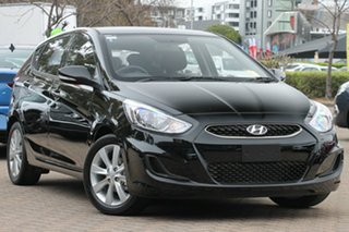 2018 Hyundai Accent RB6 MY18 Sport Phantom Black Pearl 6 Speed Sports Automatic Hatchback.