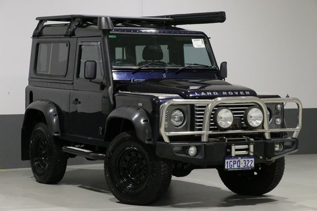 Used Land Rover Defender MY12 90, 2012 Land Rover Defender MY12 90 Blue 6 Speed Manual Wagon