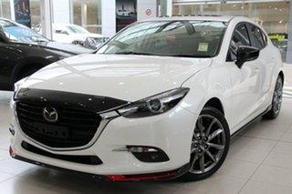 2018 Mazda 3 BN5438 SP25 SKYACTIV-Drive Astina Snowflake White 6 Speed Sports Automatic Hatchback.