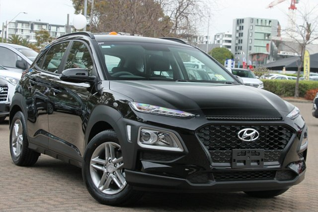 New Hyundai Kona OS.3 MY20 Active 2WD, 2019 Hyundai Kona OS.3 MY20 Active 2WD Phantom Black 6 Speed Sports Automatic Wagon