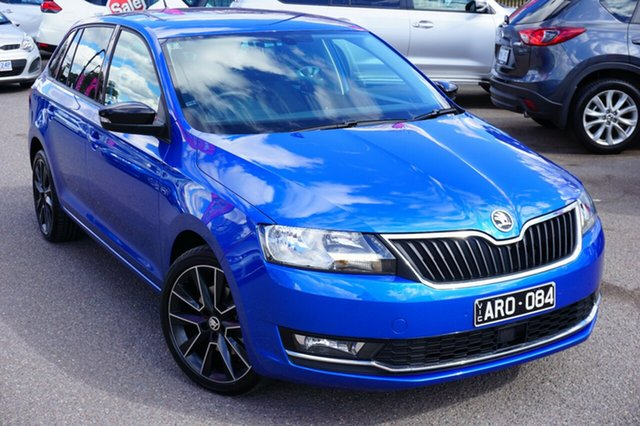 Used Skoda Rapid NH MY18.5 Spaceback DSG, 2018 Skoda Rapid NH MY18.5 Spaceback DSG Blue 7 Speed Sports Automatic Dual Clutch Hatchback