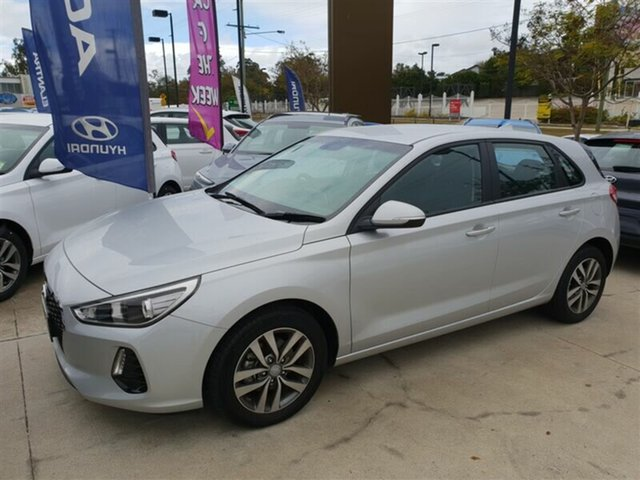 Demo Hyundai i30 PD MY18 Active, 2017 Hyundai i30 PD MY18 Active Platinum Silver 6 Speed Sports Automatic Hatchback