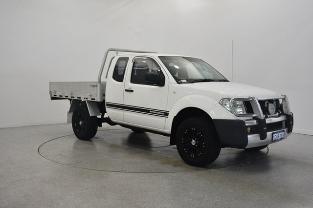 Used Nissan Navara D40 S6 MY12 RX King Cab, 2012 Nissan Navara D40 S6 MY12 RX King Cab White 5 Speed Automatic Cab Chassis