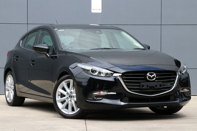New Mazda 3 BN5438 SP25 SKYACTIV-Drive, 2018 Mazda 3 BN5438 SP25 SKYACTIV-Drive Jet Black 6 Speed Sports Automatic Hatchback