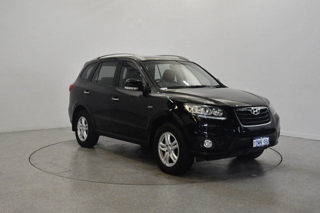 Used Hyundai Santa Fe CM MY10 Elite, 2010 Hyundai Santa Fe CM MY10 Elite Black 6 Speed Sports Automatic Wagon