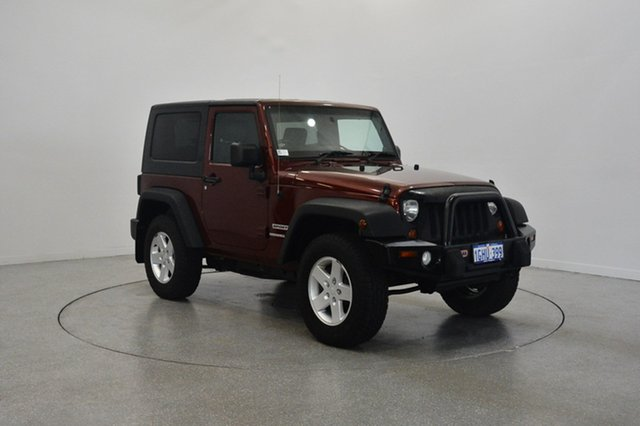 Used Jeep Wrangler JK MY2010 Sport, 2010 Jeep Wrangler JK MY2010 Sport Burgundy 6 Speed Manual Softtop