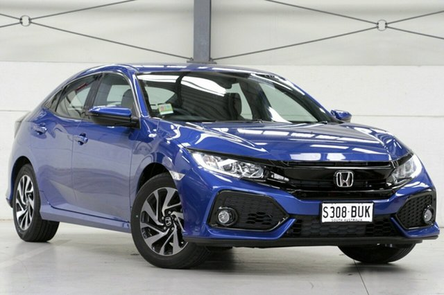 Demo Honda Civic 10th Gen MY18 VTi-S, 2018 Honda Civic 10th Gen MY18 VTi-S Brilliant Sporty Blue 1 Speed Constant Variable Hatchback
