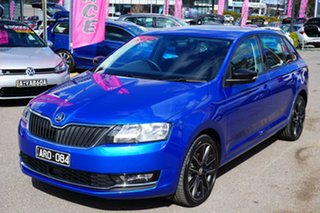 2018 Skoda Rapid NH MY18.5 Spaceback DSG Blue 7 Speed Sports Automatic Dual Clutch Hatchback.