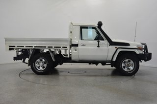 2014 Toyota Landcruiser VDJ79R MY13 GX White 5 Speed Manual Cab Chassis.