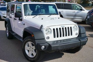 2016 Jeep Wrangler JK MY2016 Unlimited Sport White 5 Speed Automatic Softtop.