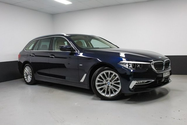 Used BMW 520d G31 Luxury Line Touring Steptronic, 2017 BMW 520d G31 Luxury Line Touring Steptronic Blue 8 Speed Sports Automatic Wagon