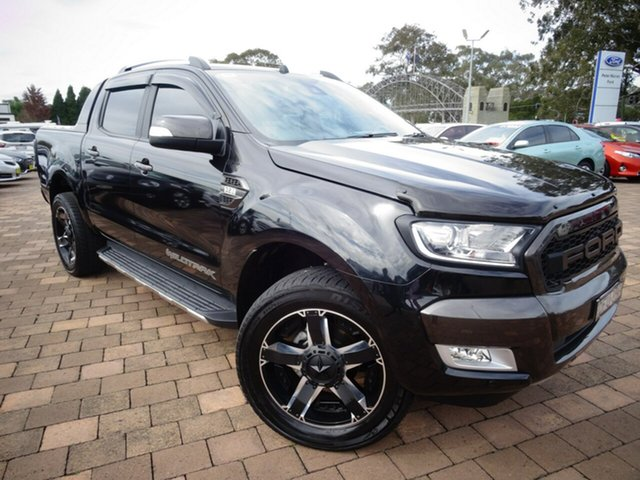 Used Ford Ranger PX MkII Wildtrak Double Cab, 2016 Ford Ranger PX MkII Wildtrak Double Cab Black Mica 6 Speed Sports Automatic Utility