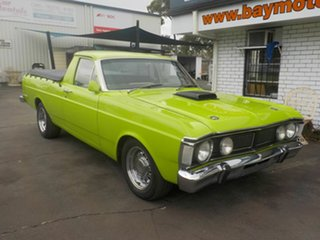 1972 Ford Falcon XY 500 Green 4 Speed Manual Utility.