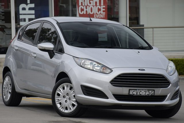 Used Ford Fiesta WZ Ambiente PwrShift, 2014 Ford Fiesta WZ Ambiente PwrShift Highlight Silver 6 Speed Sports Automatic Dual Clutch
