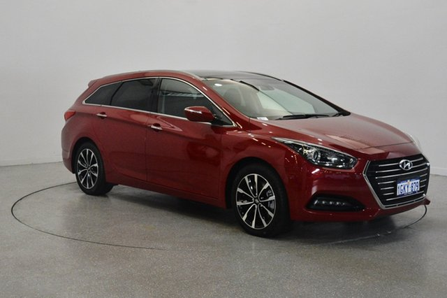 Used Hyundai i40 VF4 Series II Premium Tourer, 2016 Hyundai i40 VF4 Series II Premium Tourer Red 6 Speed Sports Automatic Wagon