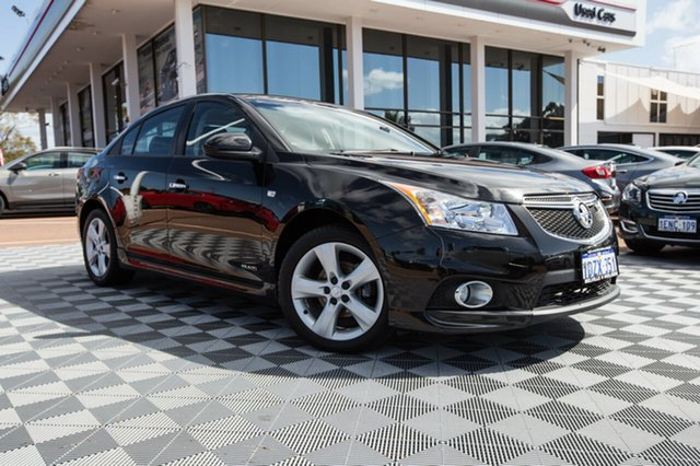 Used Holden Cruze JH Series II MY12 SRi-V, 2012 Holden Cruze JH Series II MY12 SRi-V Black 6 Speed Manual Sedan
