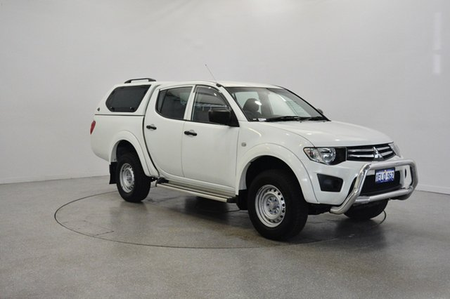 Used Mitsubishi Triton MN MY13 GLX Double Cab 4x2, 2012 Mitsubishi Triton MN MY13 GLX Double Cab 4x2 White 5 Speed Manual Utility