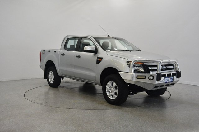 Used Ford Ranger PX XLS Double Cab, 2013 Ford Ranger PX XLS Double Cab Silver 6 Speed Manual Utility