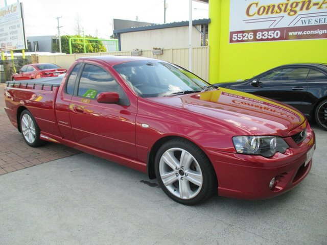Used Ford Falcon BF Mk II XR6 Super Cab, 2006 Ford Falcon BF Mk II XR6 Super Cab Red 4 Speed Sports Automatic Cab Chassis