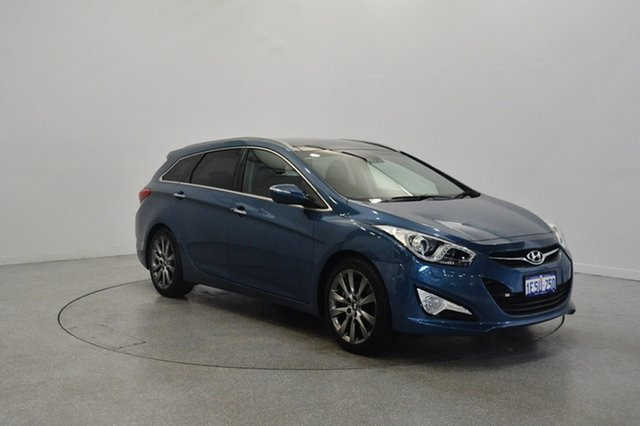 Used Hyundai i40 VF4 Series II Premium Tourer, 2015 Hyundai i40 VF4 Series II Premium Tourer Blue Spirit 6 Speed Sports Automatic Wagon
