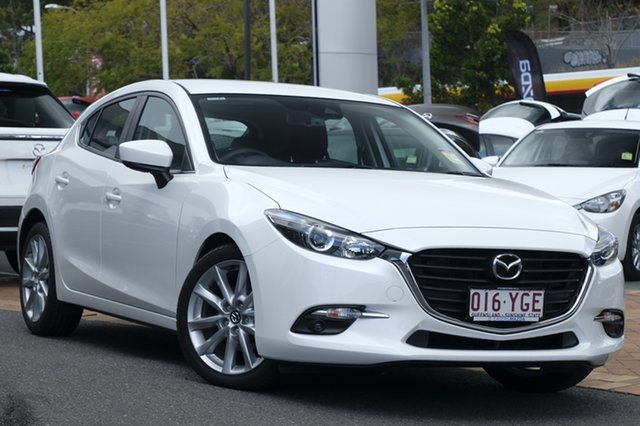 Demo Mazda 3 BN5438 SP25 SKYACTIV-Drive, 2018 Mazda 3 BN5438 SP25 SKYACTIV-Drive Snowflake White 6 Speed Sports Automatic Hatchback