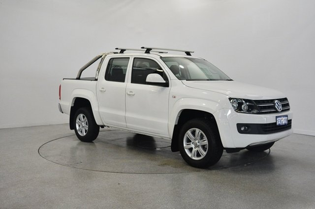 Used Volkswagen Amarok 2H MY14 TDI420 4Motion Perm Trendline, 2014 Volkswagen Amarok 2H MY14 TDI420 4Motion Perm Trendline White 8 Speed Automatic Utility