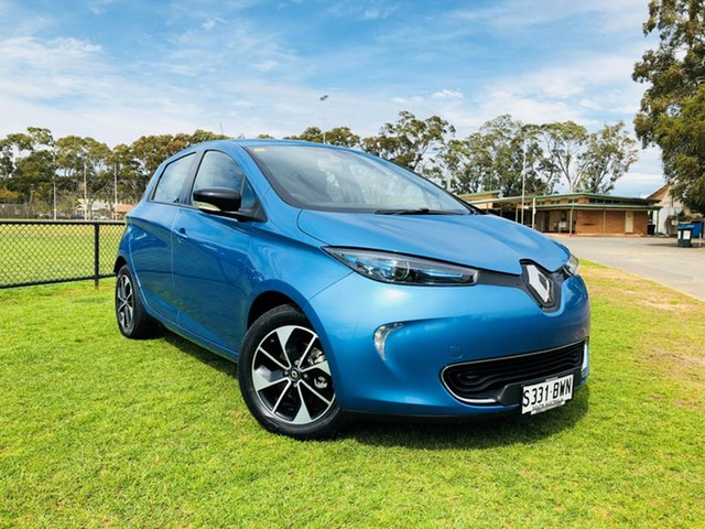 Demo Renault ZOE B10 Intens, 2017 Renault ZOE B10 Intens Lightning Blue 1 Speed Reduction Gear Hatchback