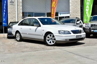 2007 Ford Fairlane BF Ghia White 6 Speed Sports Automatic Sedan