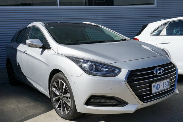 Demo Hyundai i40 VF4 Series II Premium Tourer D-CT, 2018 Hyundai i40 VF4 Series II Premium Tourer D-CT Platinum Silver 7 Speed