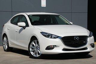 2018 Mazda 3 BN5238 SP25 SKYACTIV-Drive Snowflake White 6 Speed Sports Automatic Sedan.
