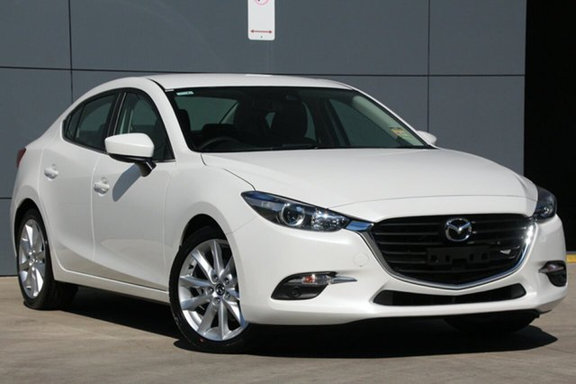 New Mazda 3 BN5238 SP25 SKYACTIV-Drive, 2018 Mazda 3 BN5238 SP25 SKYACTIV-Drive Snowflake White 6 Speed Sports Automatic Sedan