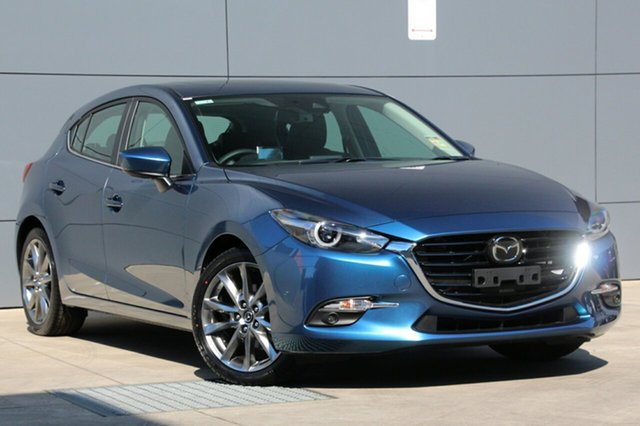 New Mazda 3 BN5438 SP25 SKYACTIV-Drive Astina, 2018 Mazda 3 BN5438 SP25 SKYACTIV-Drive Astina Eternal Blue 6 Speed Sports Automatic Hatchback