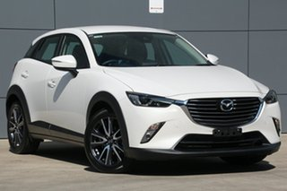 2017 Mazda CX-3 DK2W7A sTouring SKYACTIV-Drive White 6 Speed Sports Automatic Wagon.