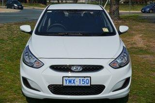 2018 Hyundai Accent RB6 MY18 Sport Chalk White 6 Speed Sports Automatic Hatchback.