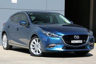 2018 Mazda 3 BN5438 SP25 SKYACTIV-Drive GT Eternal Blue 6 Speed Sports Automatic Hatchback.