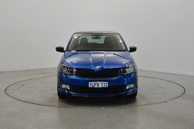 Used Skoda Fabia NJ MY18.5 81TSI DSG Monte Carlo, 2018 Skoda Fabia NJ MY18.5 81TSI DSG Monte Carlo Race Blue 7 Speed Sports Automatic Dual Clutch