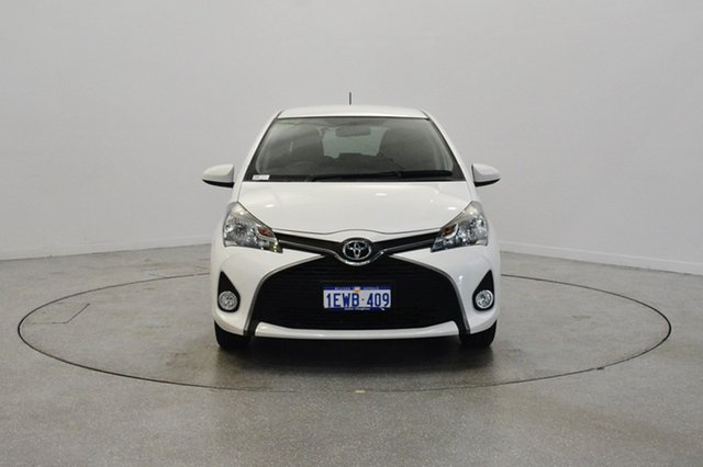Used Toyota Yaris NCP131R SX, 2015 Toyota Yaris NCP131R SX White 4 Speed Automatic Hatchback