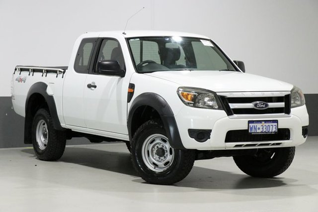Used Ford Ranger PK XL (4x4), 2010 Ford Ranger PK XL (4x4) White 5 Speed Manual Super Cab Pickup