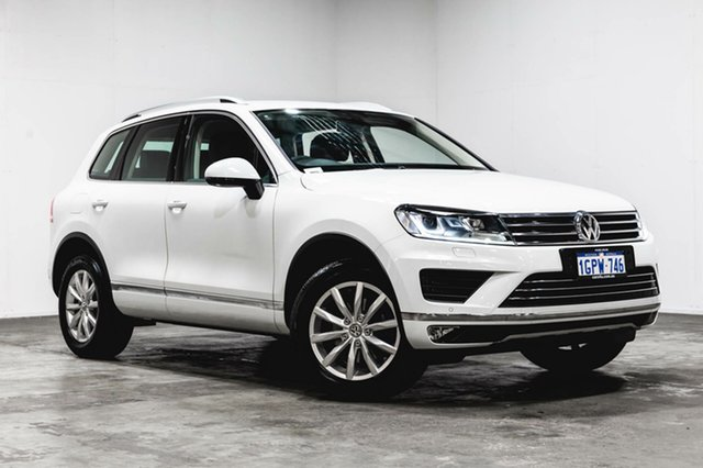 Used Volkswagen Touareg 7P MY16 150TDI Tiptronic 4MOTION, 2016 Volkswagen Touareg 7P MY16 150TDI Tiptronic 4MOTION White 8 Speed Sports Automatic Wagon