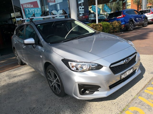 Used Subaru Impreza G5 MY17 2.0i CVT AWD, 2017 Subaru Impreza G5 MY17 2.0i CVT AWD Silver 7 Speed Constant Variable Hatchback
