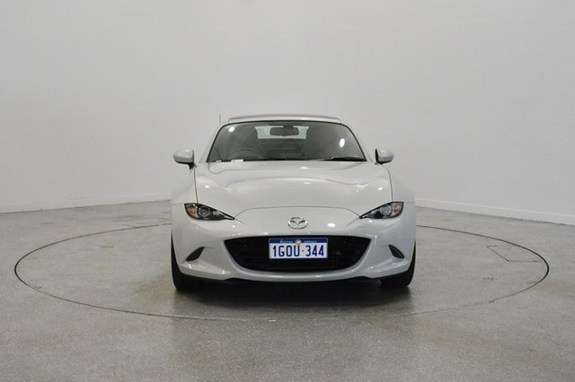Used Mazda MX-5 ND GT RF SKYACTIV-Drive, 2017 Mazda MX-5 ND GT RF SKYACTIV-Drive White 6 Speed Sports Automatic Targa
