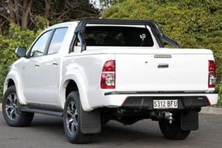 2014 Toyota Hilux KUN26R MY14 Black Double Cab Limited Edition Glacier White 5 Speed Automatic.
