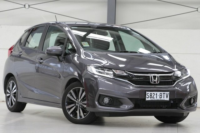 Demo Honda Jazz GF MY18 VTi-L, 2018 Honda Jazz GF MY18 VTi-L Modern Steel 1 Speed Constant Variable Hatchback