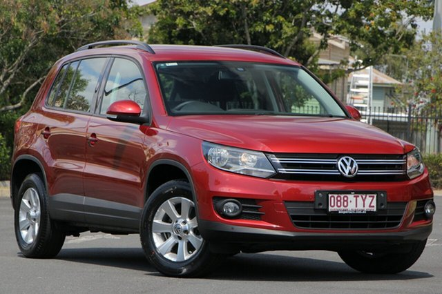 Used Volkswagen Tiguan 5N MY14 103TDI DSG 4MOTION Pacific, 2014 Volkswagen Tiguan 5N MY14 103TDI DSG 4MOTION Pacific Red 7 Speed Sports Automatic Dual Clutch