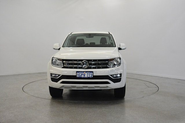 Used Volkswagen Amarok 2H MY18 TDI550 4MOTION Perm Sportline, 2017 Volkswagen Amarok 2H MY18 TDI550 4MOTION Perm Sportline Candy White 8 Speed Automatic Utility