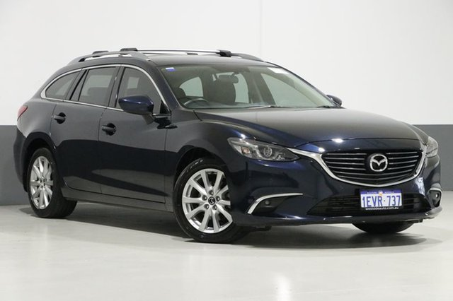 Used Mazda 6 6C MY15 Touring, 2015 Mazda 6 6C MY15 Touring Blue 6 Speed Automatic Wagon