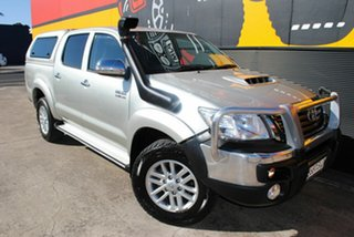 2014 Toyota Hilux KUN26R MY14 SR5 Double Cab Stirling Silver 5 Speed Automatic Utility.