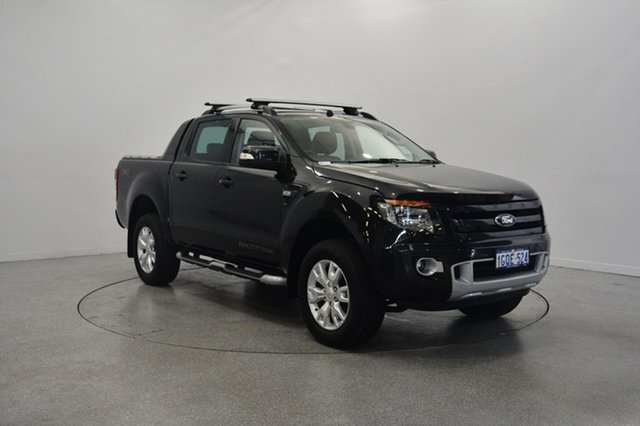 Used Ford Ranger PX Wildtrak Double Cab, 2014 Ford Ranger PX Wildtrak Double Cab Black 6 Speed Sports Automatic Utility